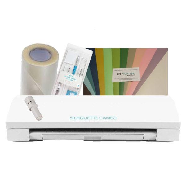 Silhouette Cameo 3 Blauw + de Cricut Easypress + de Cricut Mat + TOTAAL VOORDEEL PAKKET Cityplotter Zaandam