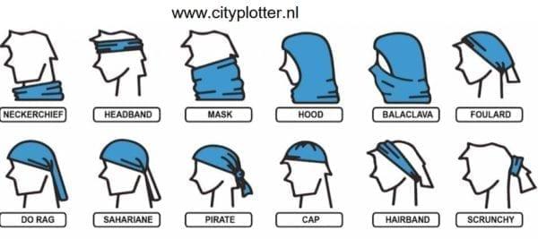 sublimatie bandana wit multifunctioneel cityplotte
