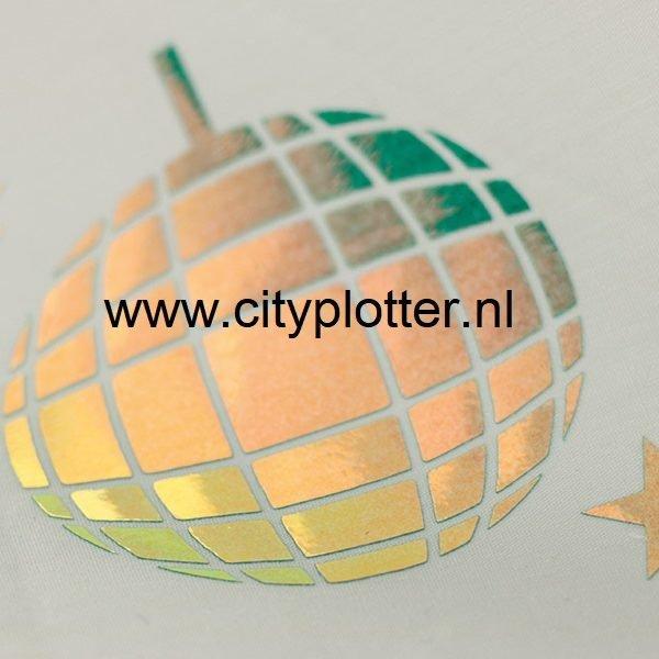 flexfolie disco groen op wit cityplotter zaandam