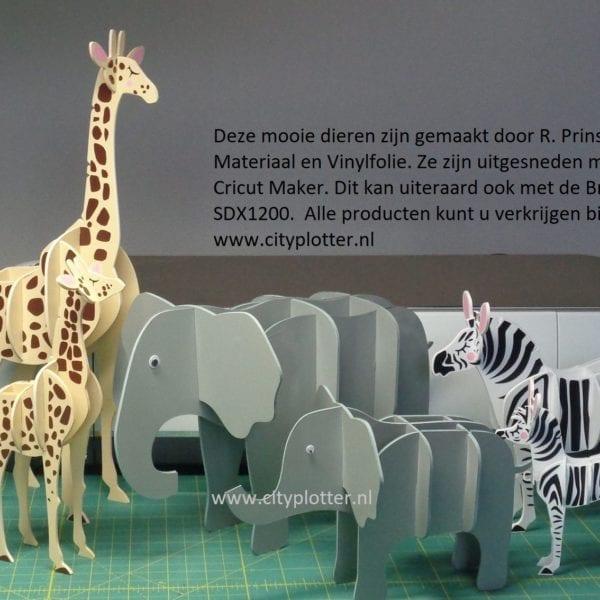 Deco materiaal dieren gemaakt door Rien Cityplotter Zaandam