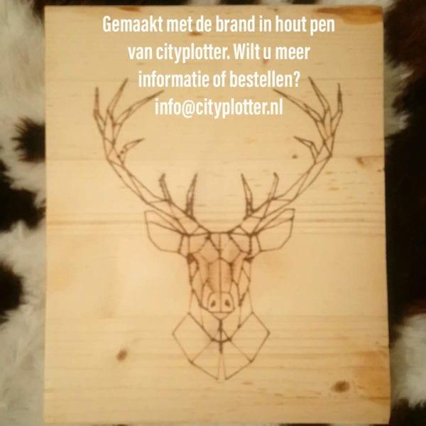 brand in hout pen hert cityplotter