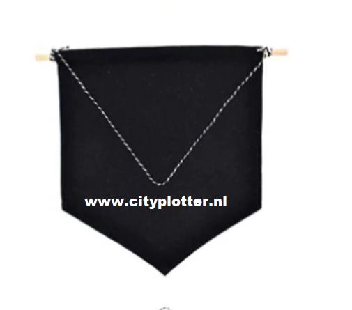 banner zwart kinderkamer decoratie cityplotter
