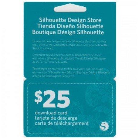 Silhouette online winkel kaart 25 dollar SILH-25DNLD-3T 814792011652 Cityplotter Zaandam