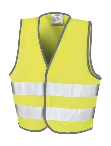 Veiligheidsvest geel kids Cityplotter