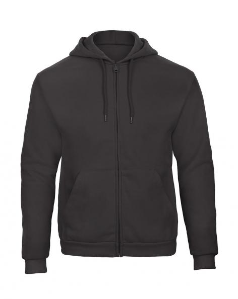 hoodie sweater met rits antraciet no label B&C Cityplotter Unisex