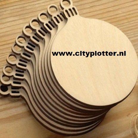 kerstbal hanger hout 7 cm x 9 cm cityplotter