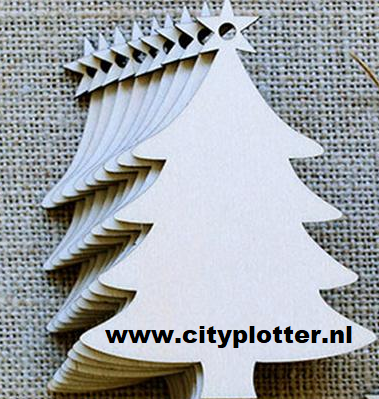 kerstboom hanger hout 7 cm x 9 cm cityplotter