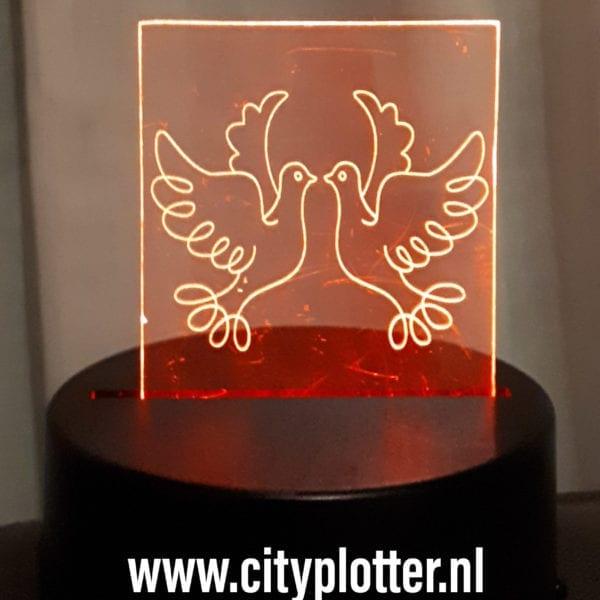 led lampje duiven cityplotter
