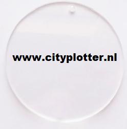 plexiglas rond 5 cm met gaatje cityplotter zaandam