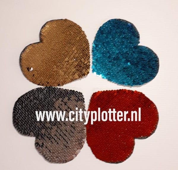 sublimatie hart pailletten 4 kleuren cityplotter