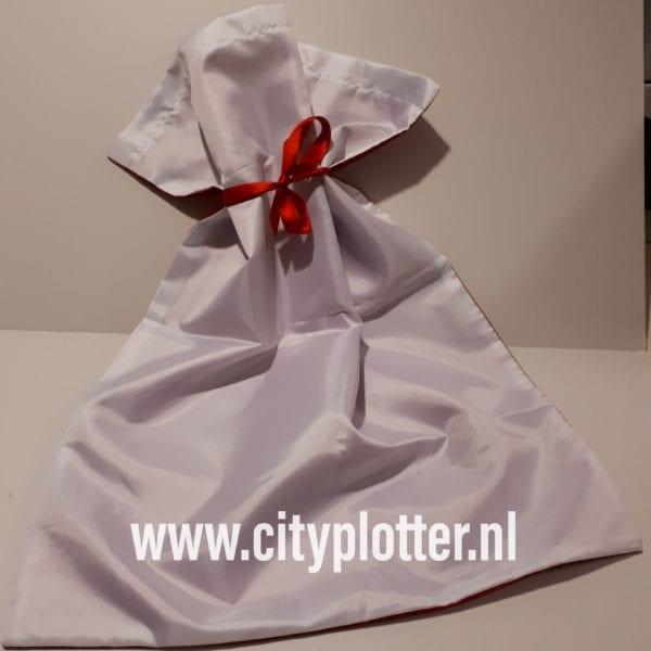 sublimatie kerstzak rood wit cityplotter