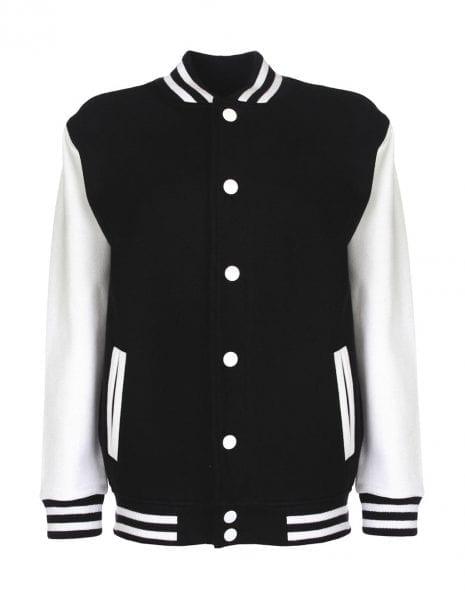 Varsity jacket black white cityplotter