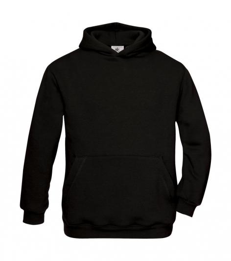 hoodie kinderen black b&c cityplotter