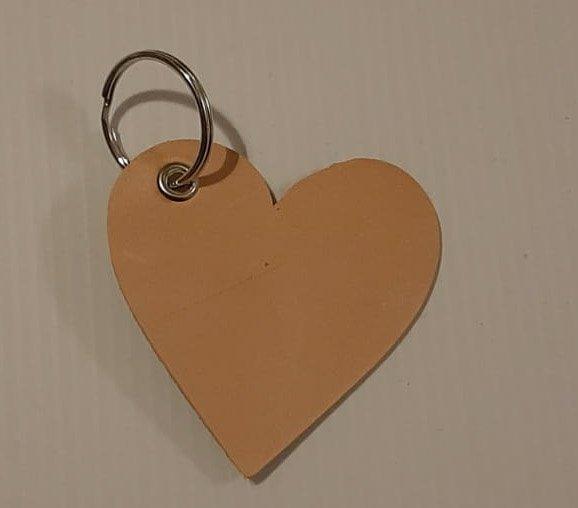 sleutelhanger leer hart cityplotter
