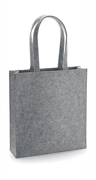 Felt tote bage bagbase 723 grey melange cityplotter