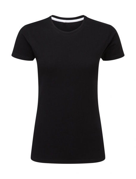 Ladies perfect print tagless tee sg black cityplotter