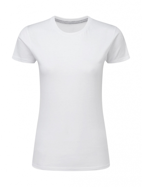 Ladies perfect print tagless tee sg white cityplotter