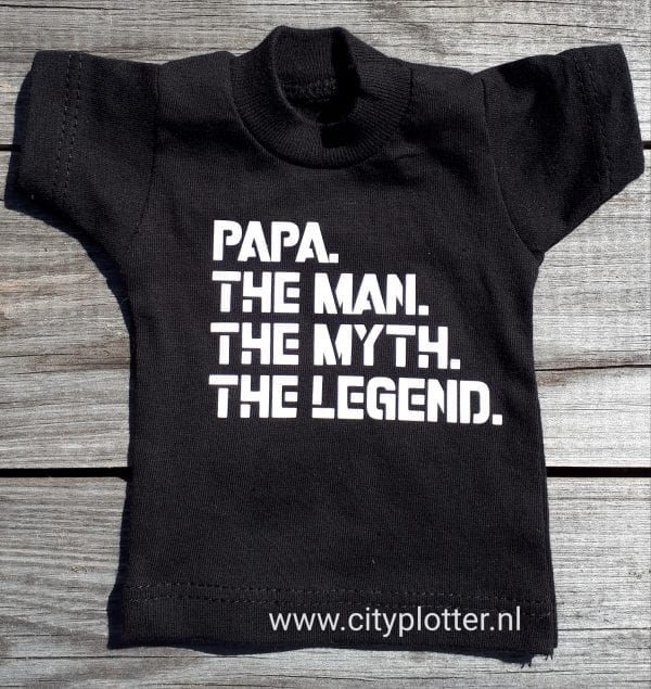 mini shirt papa the man legend cityplotter