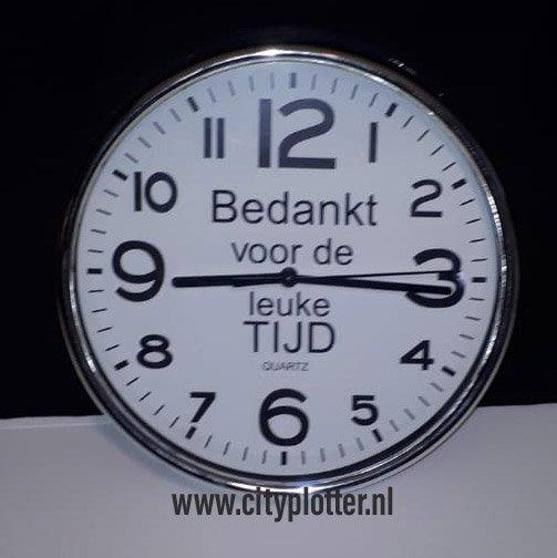 klok bedankt voor de leuke tijd cityplotter