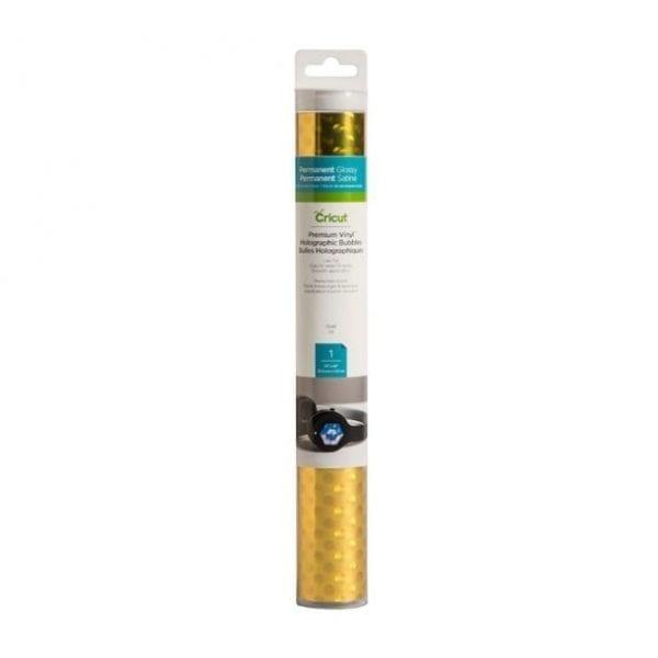 Cricut Premium Vinyl Holographic Bubbles Gold (2006552) EAN 093573567995