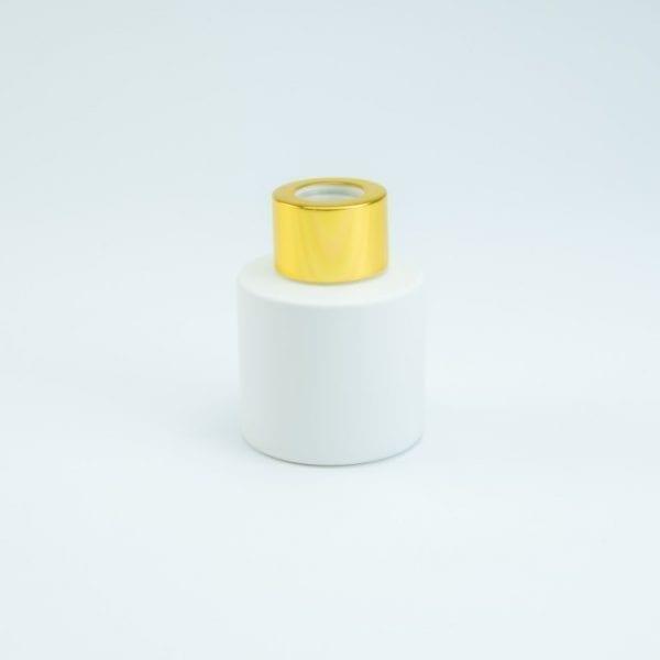 parfumflesje-cylinder-wit-met-gouden-schroefdop-50-ml cityplotter