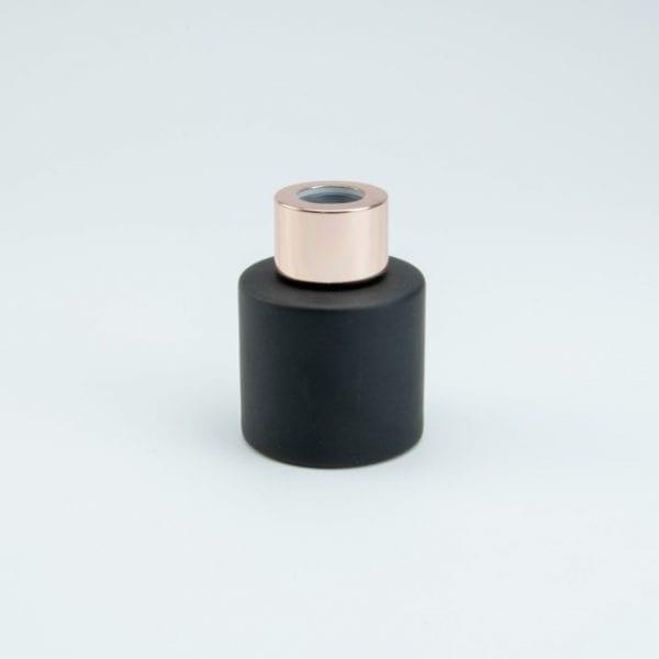 parfumflesje-cylinder-zwart-met-rose-gold-schroefdop-50-ml cityplotter