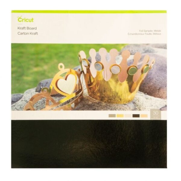 Cricut Kraft Board 12x12 Inch Foliemetalen Sampler (2005490) EAN 093573554148Cityplotter