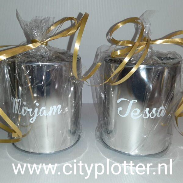 blik met naam cadeau cityplotter
