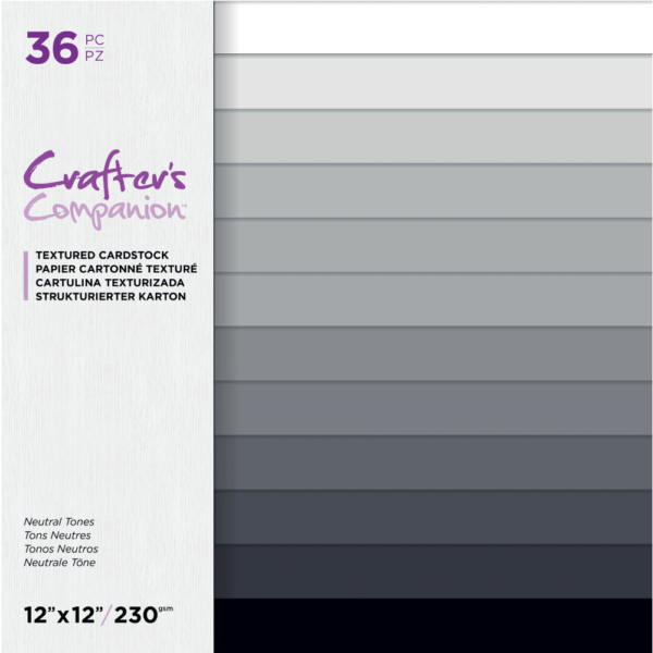 Crafter's Companion Neutral Tones 12x12 Inch Textured Cardstock (CC-PAD12-T-NEU) EAN 709650926219cityplotter