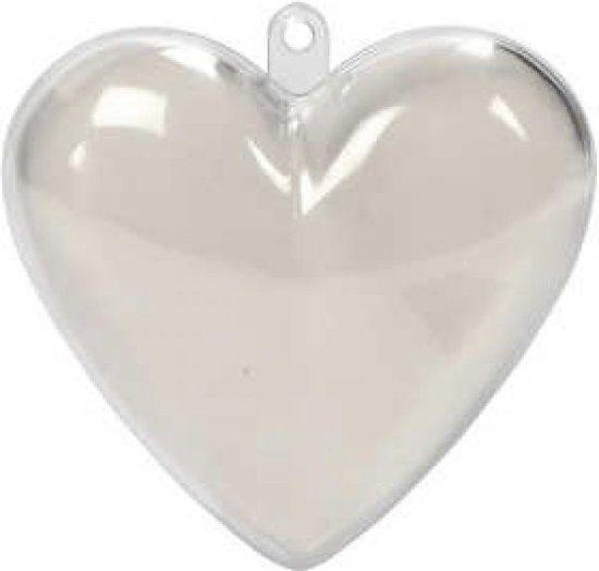 hart plastic kerst 8 cm 2 delig cityplotter