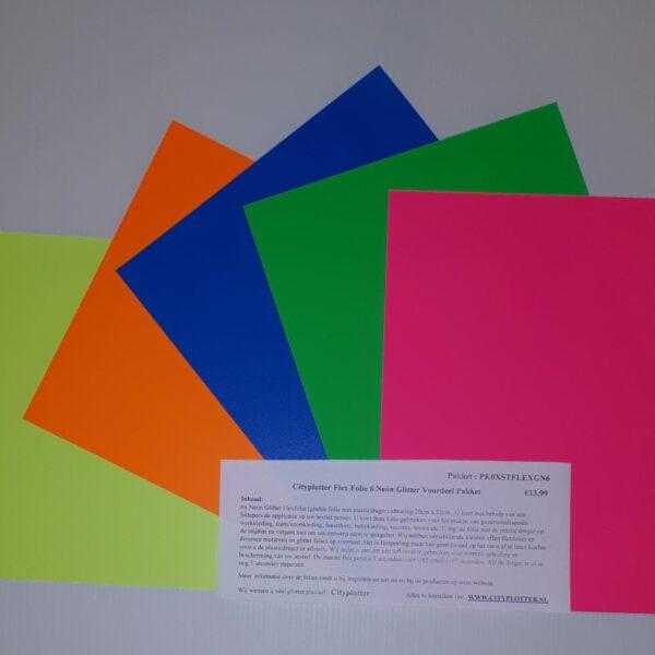 Neon Flex STAHLS Folie 5 kleuren VOORDEEL PAKKET PK0XSTFLEXN05 voor maar €7,99 Cityplotter Zaandam