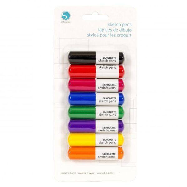 Silhouette SKETCH PEN - BASICS PACK 8 pack SILH-PEN-START-3T-B EAN 814792010341 Cityplotter Zaandam