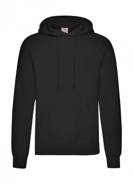 classic hoodie zwart fruit of the loom 276.01 cityplotter