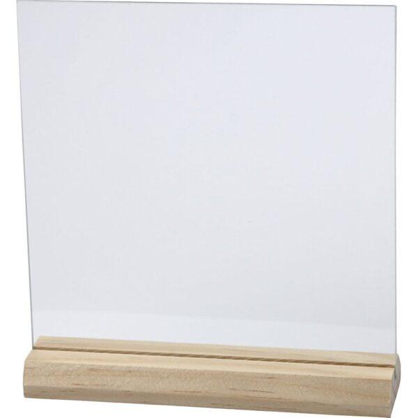 glazen plaat met houder 15 x 15 cm cityplotter