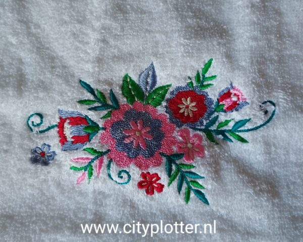 gastendoek borduring bloem cityplotter