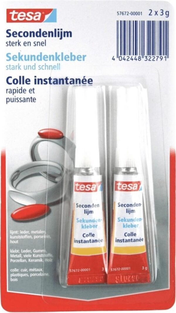 Tesa SecondenLijm Super Glue Pen om te knutselen 2 x 3 g Cityplotter Zaandam