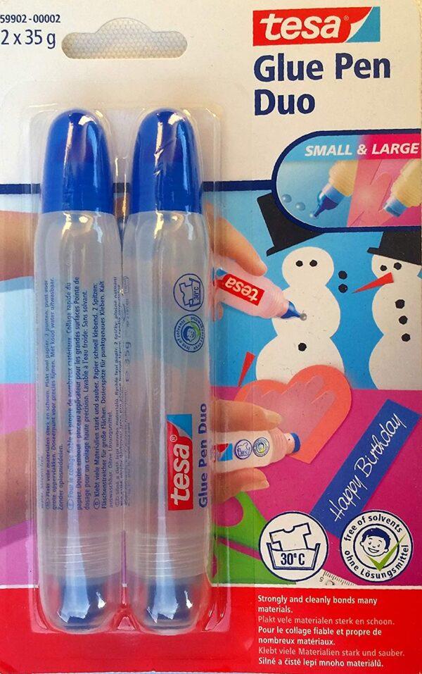 Tesa Glue Pen Duo om te knutselen met kleine en grote opening 2 x 35 g Cityplotter Zaandam