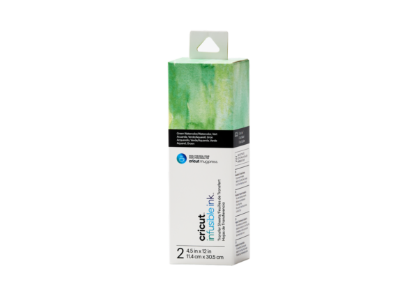 Cricut Infusible Ink Transfer Sheets Green Watercolor (2pcs) (2008889)EAN 093573686962 cityplotter