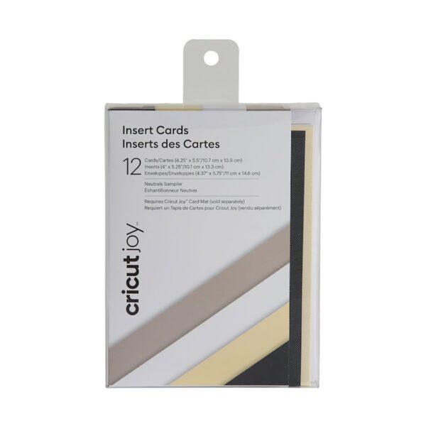 CricutInsert Cards 12-pack Neutrals (2007253) cityplotter