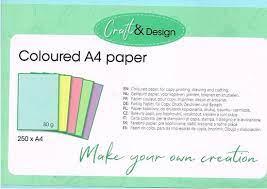 Gekleurd A4 Papier Coloured A4 Paper 5 Pastel Kleuren Set 2