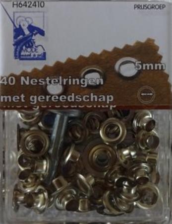 zeilringen nestels 5 mm 40 zilver cityplotter