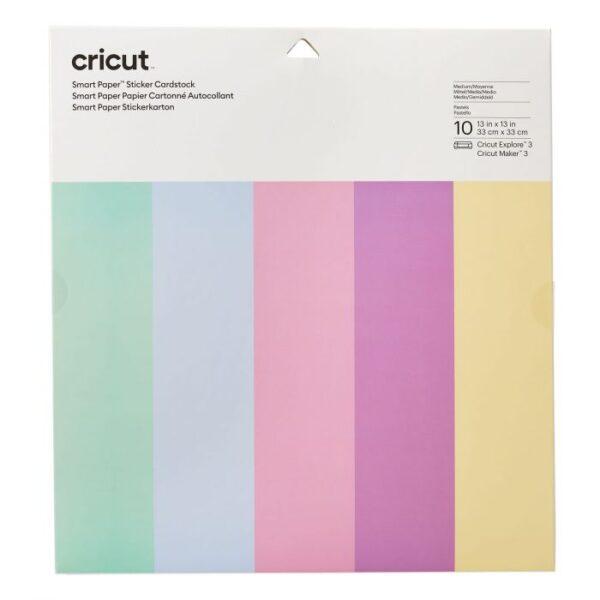 Cricut Smart Paper Sticker Cardstock 33x33cm Pastels (10pcs) (2008320)