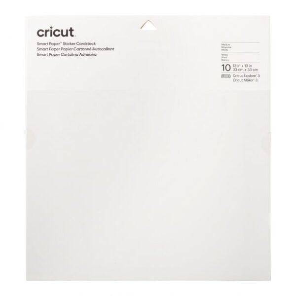 Cricut Smart Paper Sticker Cardstock 33x33cm White (10pcs) (2008317)