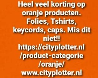 oranje actie cityplotter