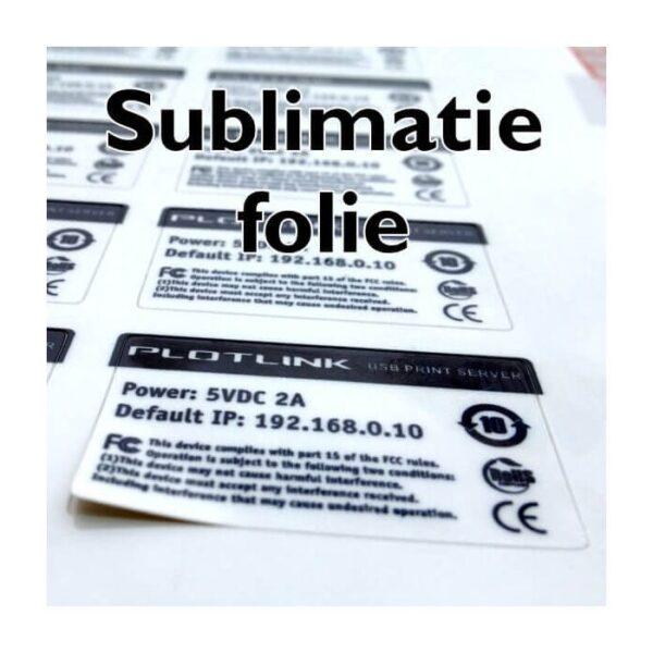 sublimatie sticker wit cityplotter